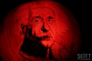 Albert Einstein Pumpkin Carving - Jack-O-Lantern Spectacular - Roger Williams Park Zoo - 2014
