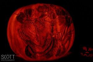 Boston Terrier Pumpkin Carving - Jack-O-Lantern Spectacular - Roger Williams Park Zoo - 2014