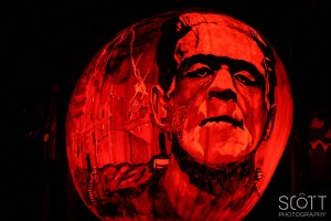 Frankenstein Pumpkin Carving - Jack-O-Lantern Spectacular - Roger Williams Park Zoo - 2014