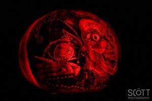 Jester Pumpkin Carving - Jack-O-Lantern Spectacular - Roger Williams Park Zoo - 2014