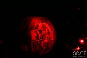 Normal Rockwell Triple Self Portrait Pumpkin Carving - Jack-O-Lantern Spectacular - Roger Williams Park Zoo - 2014