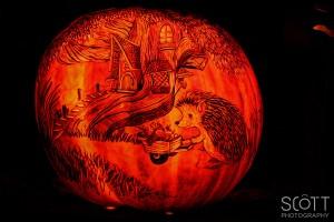 Porcupine Pumpkin Carving - Jack-O-Lantern Spectacular - Roger Williams Park Zoo - 2014