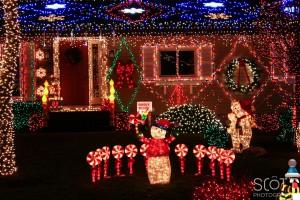 Christmas Lights on Gillette Street, Fairhaven, MA