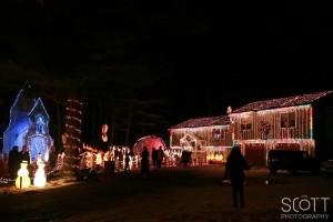 Justine Enjoying Christmas Lights - Maple Valley Road, Coventry, RI